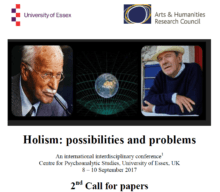 2nd call for papers for Holism: Possibilities and Problems