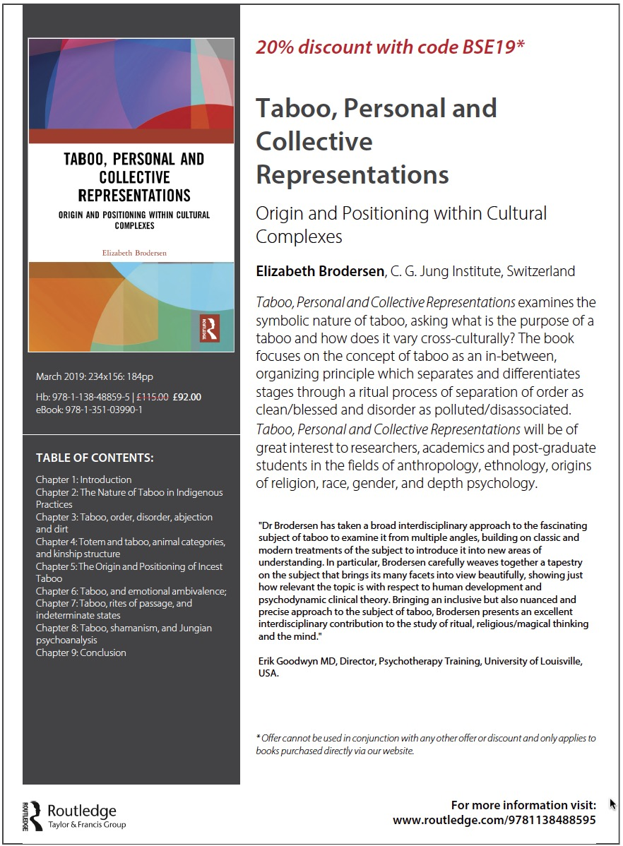 Taboo, Personal and Collective Representations: Origin and Positioning within Cultural Complexes 1st Edition by Elizabeth Brodersen (Author)