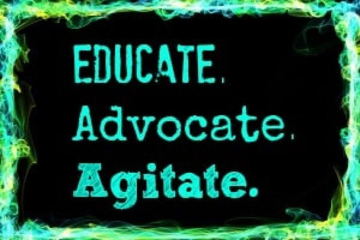 educate-advocate-agitate for gender equality