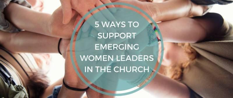 emerging women leaders circle of hands