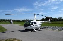 Die beiden Hubschrauber