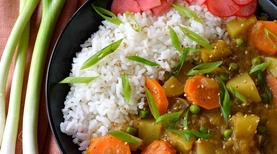 Japanese Chicken Curry With Pickled Radish