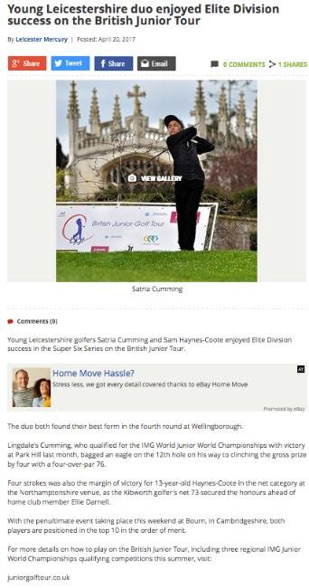 British Junior Golf Tour News