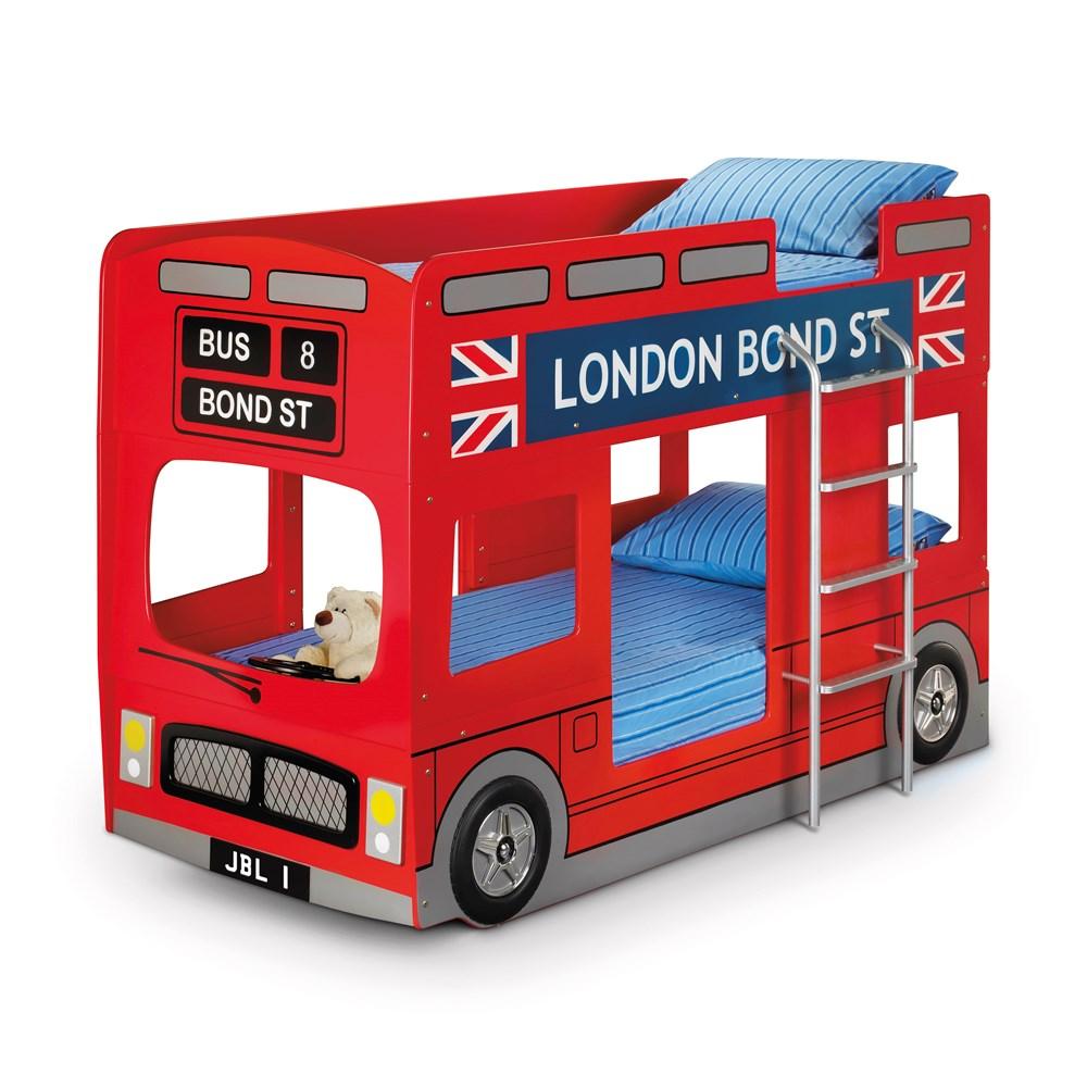 london bus kids bunk bed