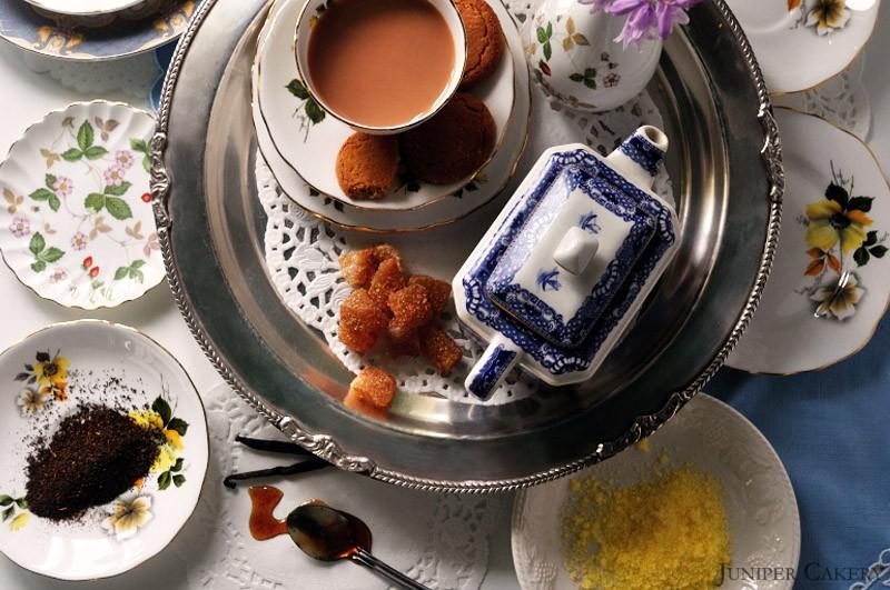 Yorkshire Tea with Sherbet Lemon Buttercream and Crystallised Ginger