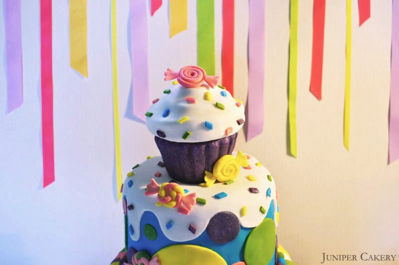 Rainbow Candy Cake by Juniper Cakery