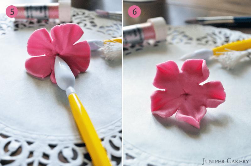 How to make fondant cherry blossoms