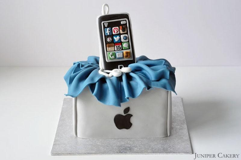 Fine Iphone Birthday Cake Funny Birthday Cards Online Aeocydamsfinfo