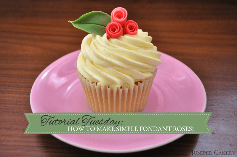 How to make quick and simple fondant roses