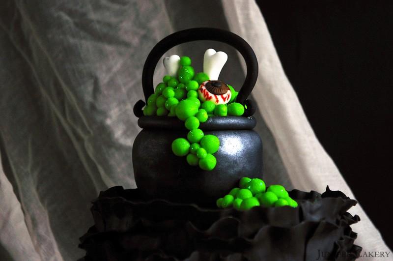 Witches' Cauldron Ruffle Cake