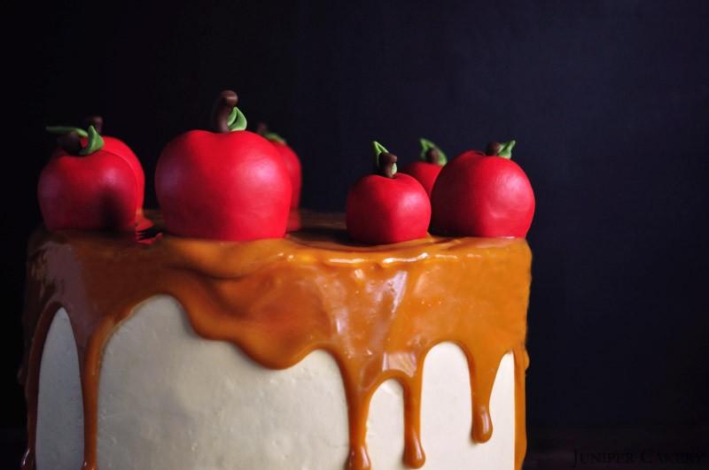 Spiced Apple & Caramel Cake by Juniper Cakery