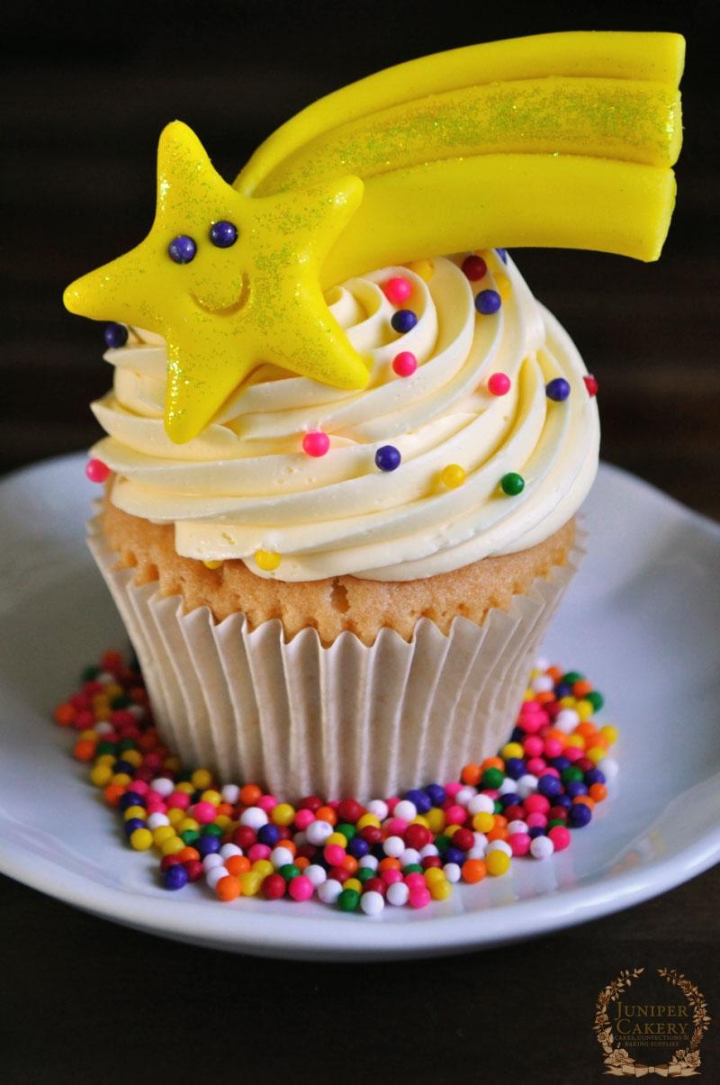 Shooting Star Cupcake tutorial by Juniper Cakery