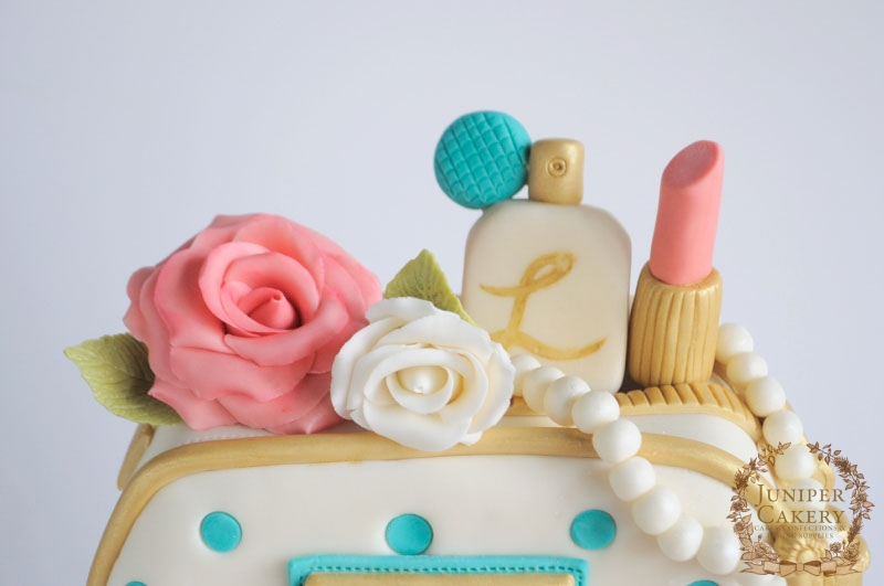 Cosmetics and Jewels Cake by Juniper Cakery