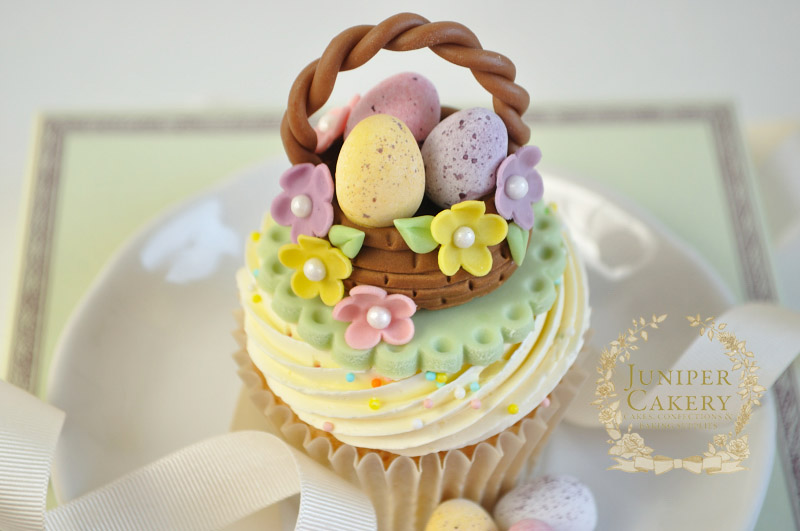 Cute Easter Basket Cupcake by Juniper Cakery