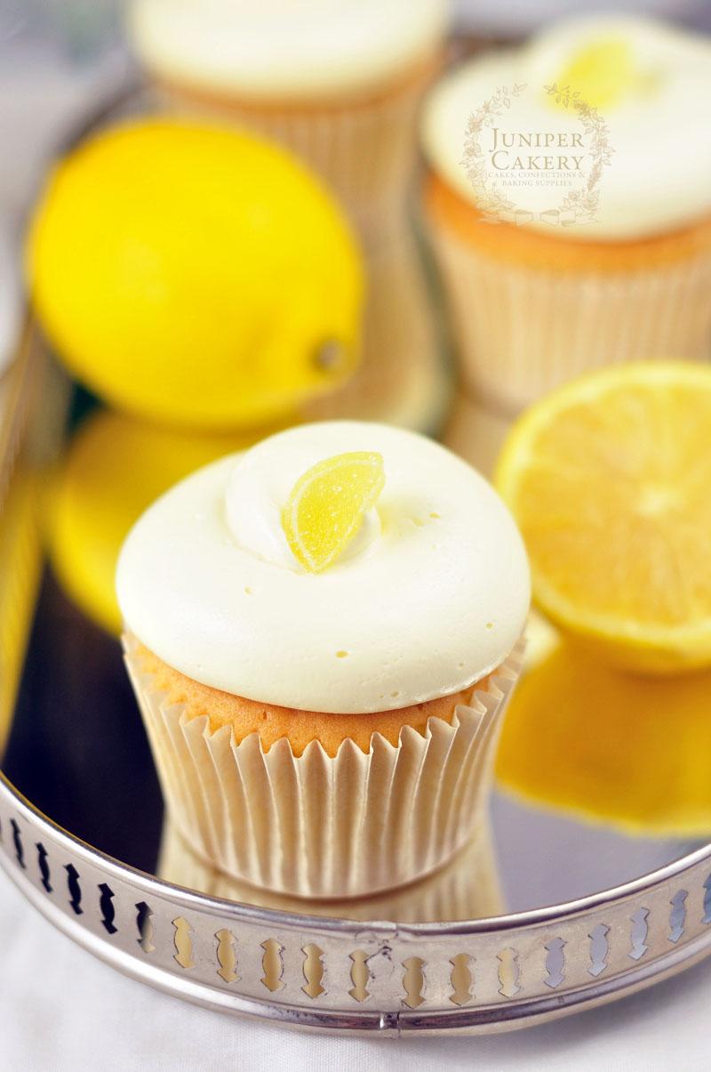 Gorgeous lemon cupcake by Juniper Cakery
