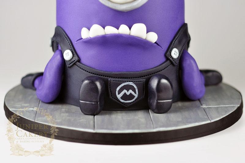 Evil Purple Minion Cake