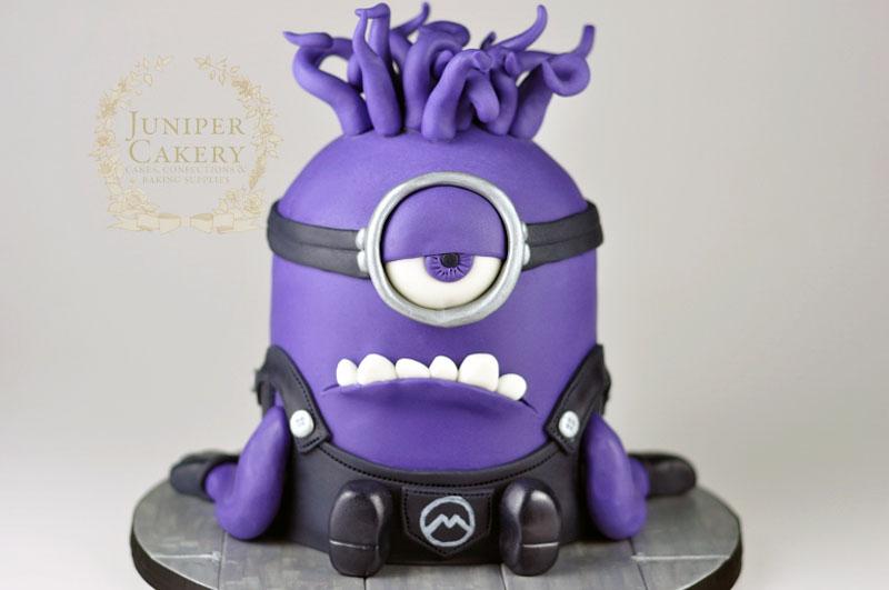 Evil Minion birthday cake by Juniper Cakery