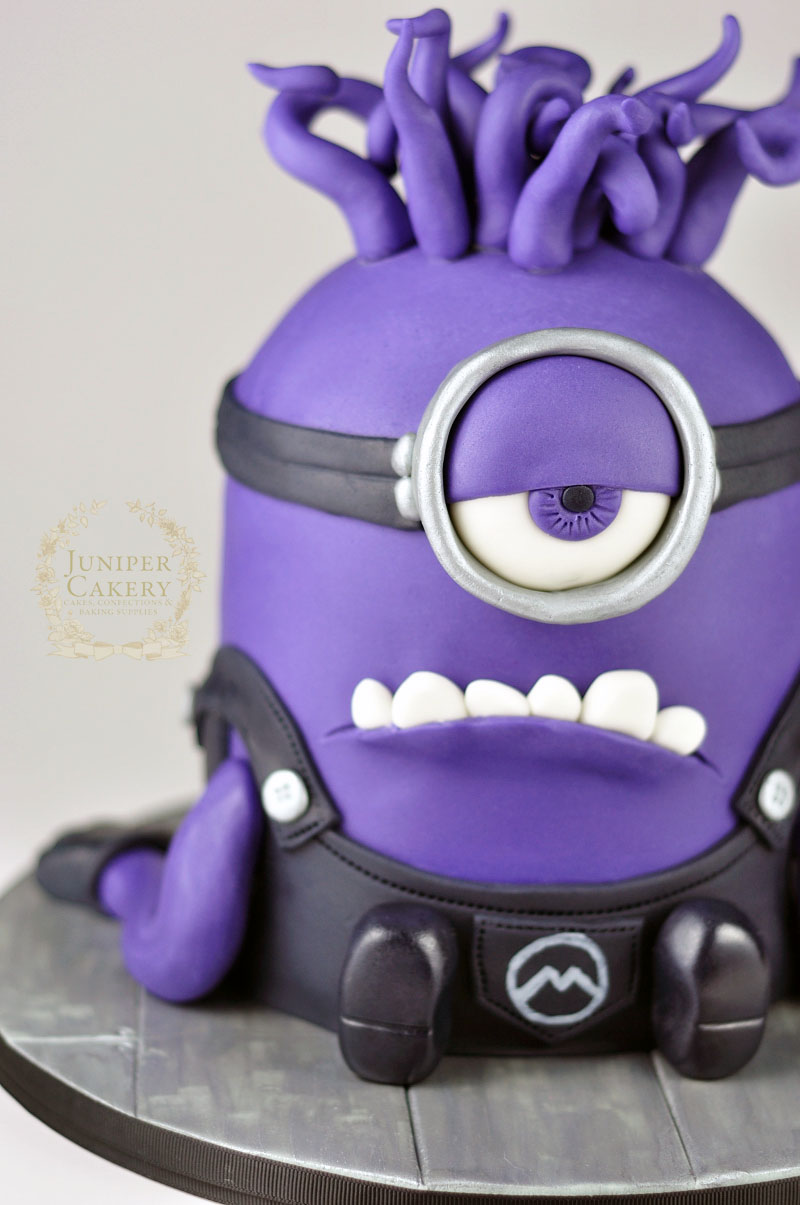 Evil Purple Minion Cake