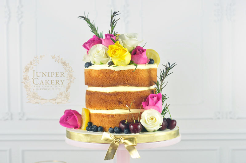 Rosemary and lemon naked cake by Juniper Cakery