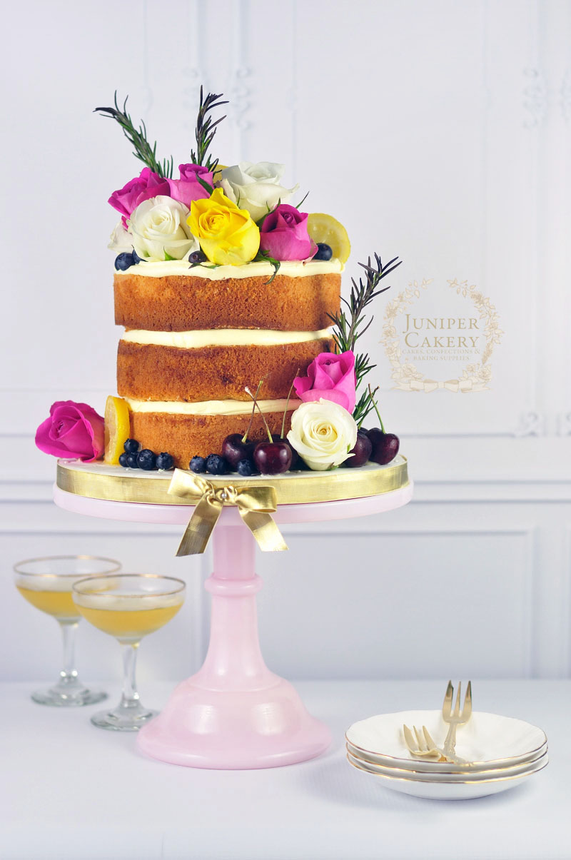 Fine Naked Cake With Rosemary Candied Lemon Slices Funny Birthday Cards Online Elaedamsfinfo