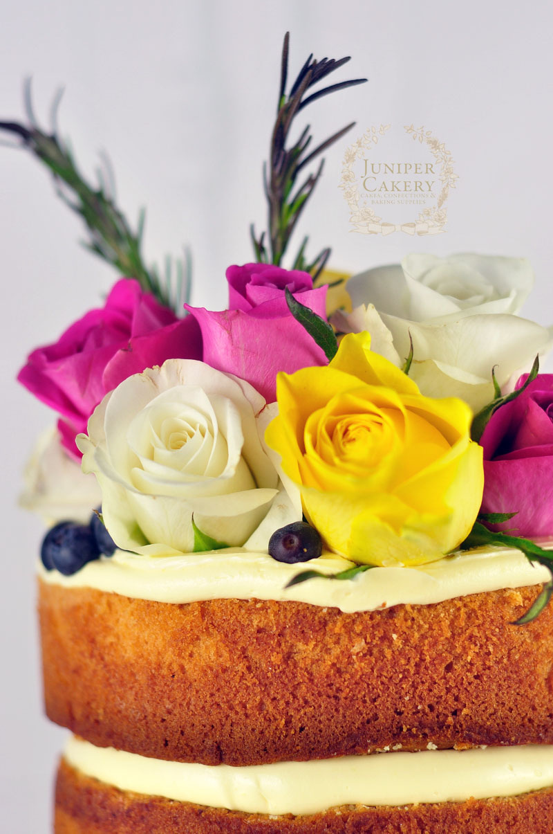 Pretty naked cake by Juniper Cakery