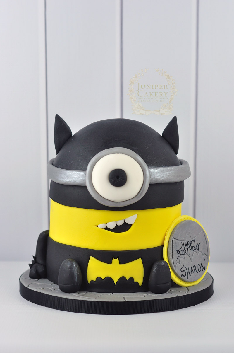 Batman Minion Cake by Juniper Cakery