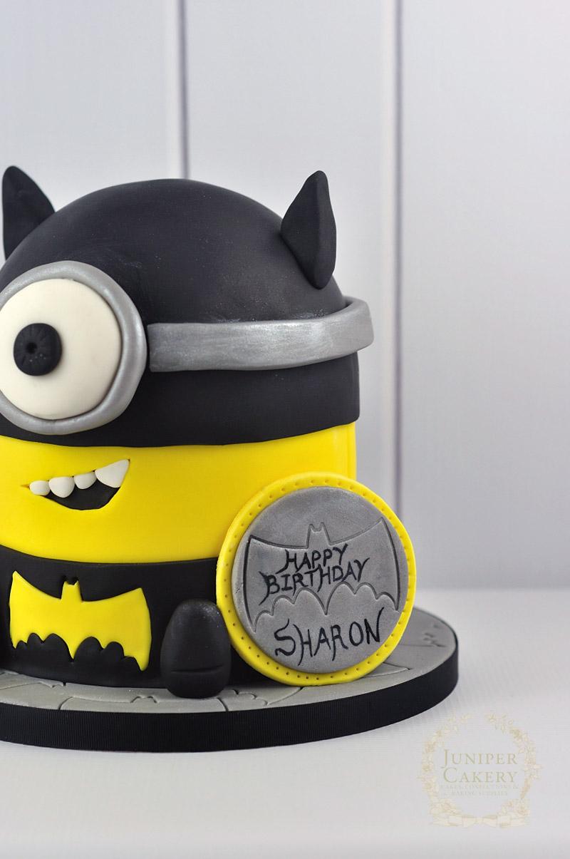 Minion in Batman Costume Cake by Juniper Cakery