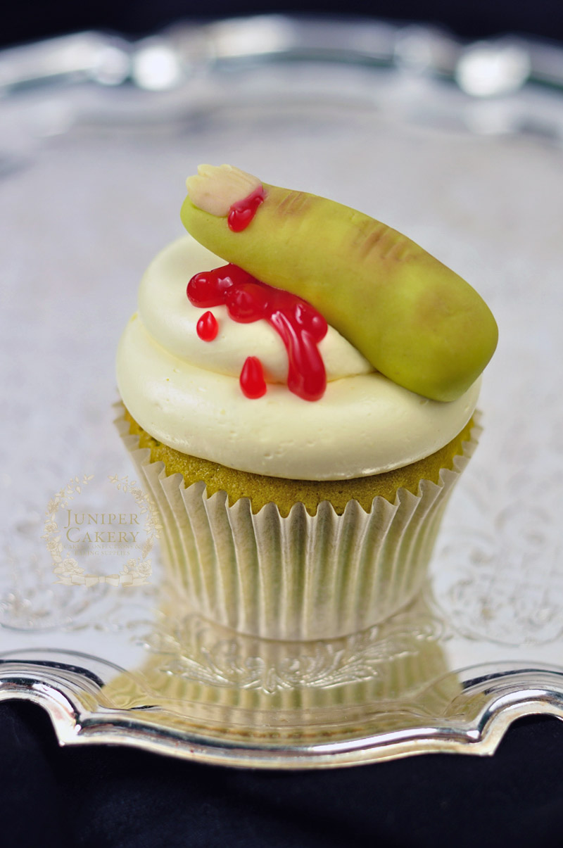 Bloody finger cupcakes by Juniper Cakery