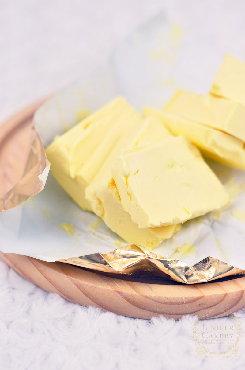 Soft butter used in gingerbread snowflake recipe by Juniper Cakery