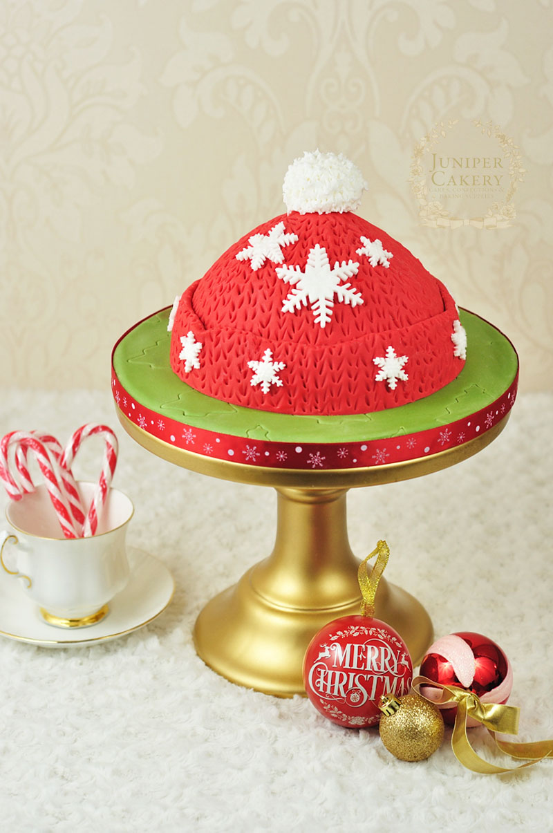 Winter hat cake how-to by Juniper Cakery