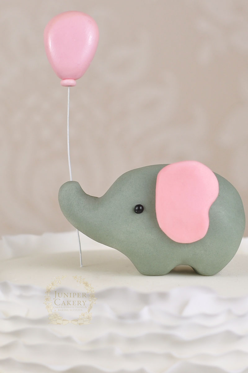 Gum Paste Elephant Cake Topper Tutorial