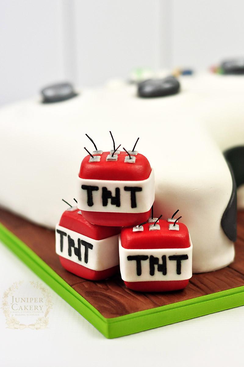 Fun oversized xbox controller cake by Juniper Cakey