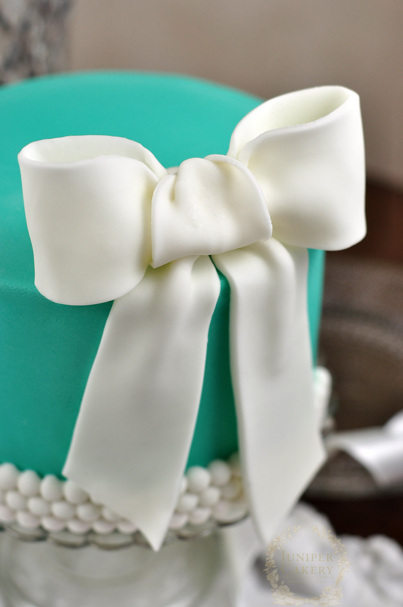Tiffany and Co. bridal shower cake by Juniper Cakery