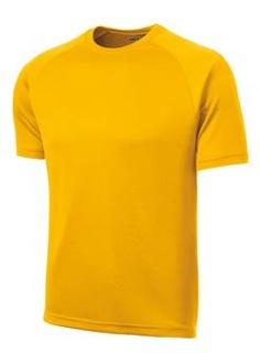 T-Shirt - Yellow - Wicking - Crest ($25)