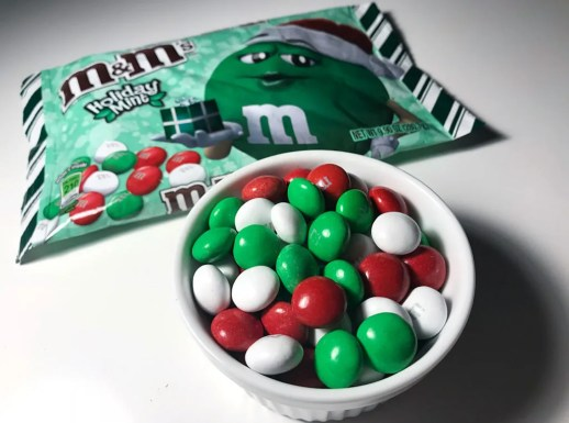 Holiday Mint M&M's