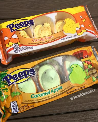 Both Candy Corn Peeps and Caramel Apple Peeps return this year. Caramel apple is better, which should surprise no one.