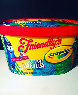 Friendly's Crayola Color Me Vanilla Ice Cream