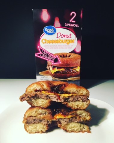 Great Value Donut Cheeseburger