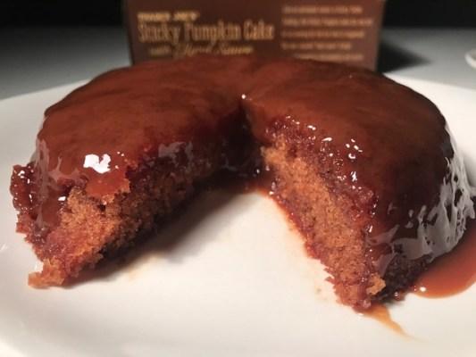 Trader Joe's Sticky Pumpkin Cake with Hard Sauce