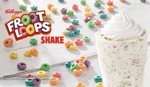 Burger King Froot Loops Milkshake