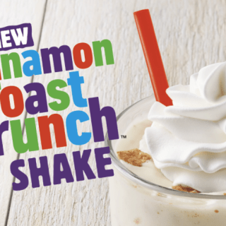 Burger King's Cinnamon Toast Crunch Shake