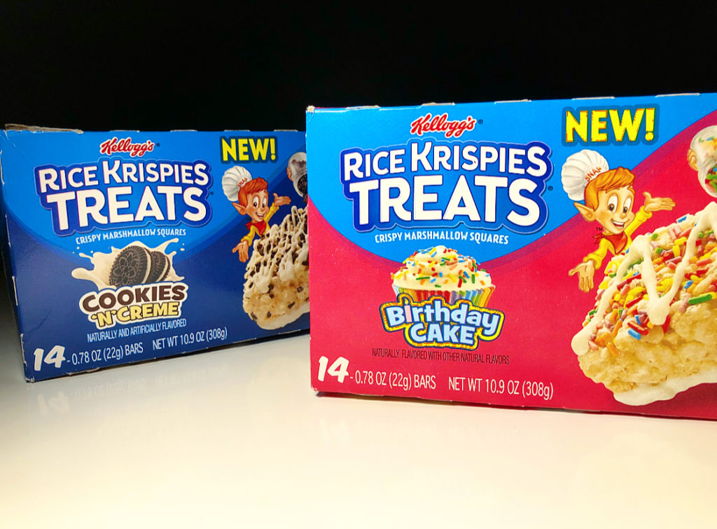 Review X2 Kelloggs Birthday Cake Cookies N Creme Rice Krispie