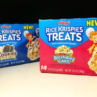 REVIEW X2 Kelloggs Birthday Cake Cookies N Creme Rice Krispie Treats