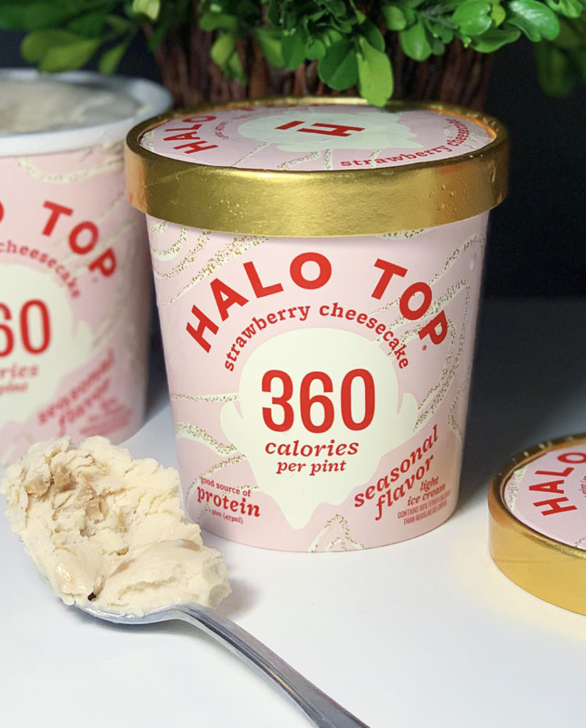 Halo Top Strawberry Cheesecake