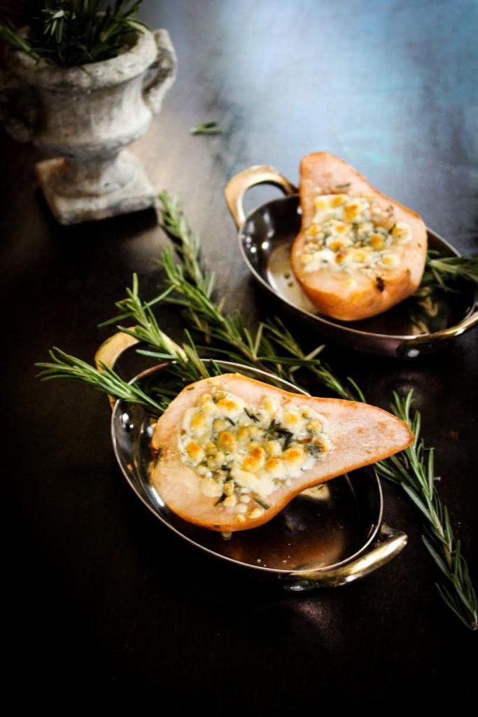 Blue Cheese Stuffed Pears