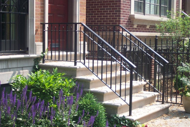 How To Remove Wrought Iron Railings   Outdoor Iron Railings For Steps   Outside   Aluminum   Wood Treads   Staircase   Custom