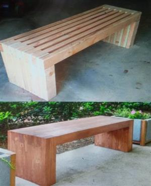 pallet in garden and patio furniture in