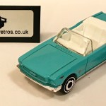 Ford Mustang Convertible 1965 Hw Keyring Keychain 1 56 Scale Light Blue Junk Yard Retros