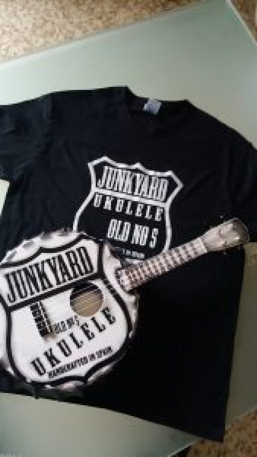 Old No 5 Ukulele and T-Shirt