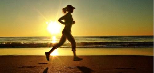 early morning jog
